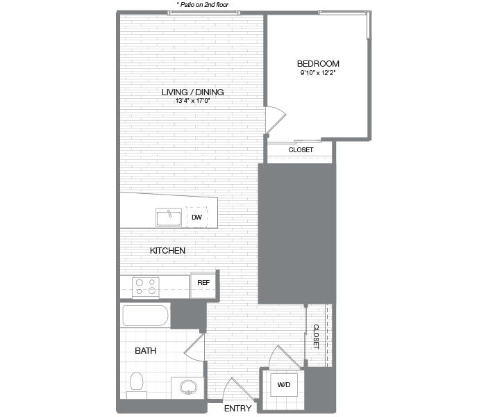 Rendering of the  floor plan